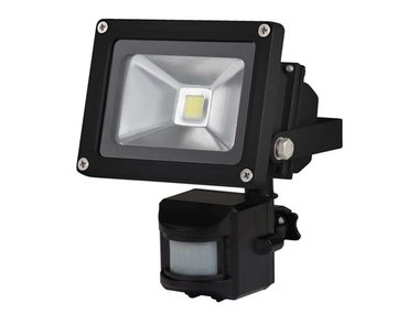 LED-SCHIJNWERPER VOOR BUITENSHUIS MET PIR-SENSOR - 10 W EPISTAR CHIP - 3000 K (LEDA3001WW-BP)
