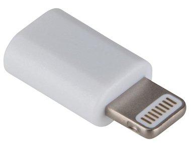 MICRO USB VROUWELIJK naar 8-PINS LIGHTNING MANNELIJK - WIT (PCMP63M)
