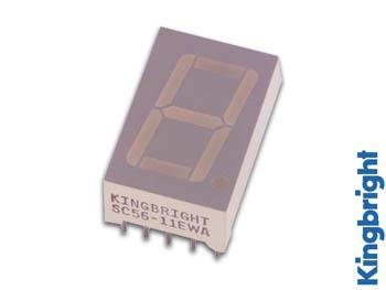 1-DIGIT DISPLAY 14mm GEMEENSCHAPPELIJKE ANODE GROEN (SA56-11GWA)