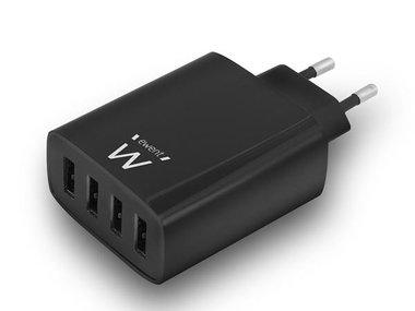 EWENT - 4-POORTS SMART USB-LADER - 5.4 A (EM1314)