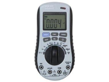 DIGITALE MULTIMETER MET AUTOMATISCHE BEREIKINSTELLING + CONTACTLOZE AC SPANNINGSDETECTOR (DVM1500)