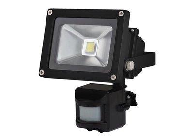 LED-SCHIJNWERPER VOOR BUITENSHUIS MET PIR-SENSOR - 10 W EPISTAR CHIP - 6500 K (LEDA3001CW-BP)