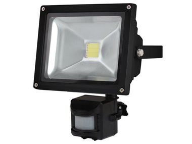 LED-SCHIJNWERPER VOOR BUITENSHUIS MET PIR-SENSOR - 20 W EPISTAR CHIP - 6500 K (LEDA3002CW-BP)