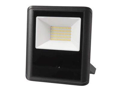 LED-SCHIJNWERPER-VOOR-BUITENSHUIS---50-W,-NEUTRAALWIT---ZWART---MICROGOLFSENSOR-(LEDA7005NW-BM)