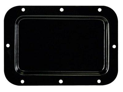 INBOUWPLAAT--ZWART-METAAL---89-x-136-mm---GEEN-OPENINGEN-(HQAC1029)