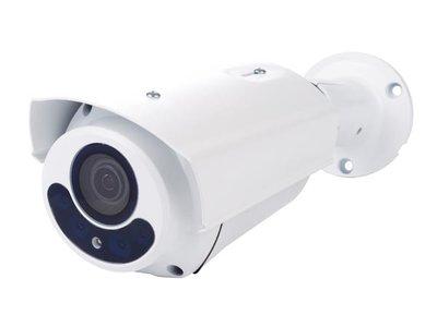 HD CCTV-CAMERA - HD-TVI - GEBRUIK BUITENSHUIS - CILINDRISCH - IR - VARIFOCALE LENS - GEMOTORISEERD - 1080P - WIT (CAMTVI12)