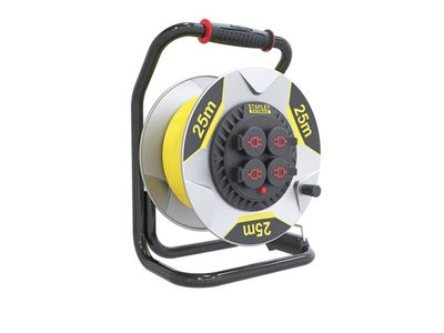 STANLEY-FATMAX-PROFESSIONAL-NEOPRENE-CABLE-REEL-WITH-ANTI-TWIST-SYSTEM---25-m---3G2.5---4-SOCKETS-(ESFMCR25M-G)