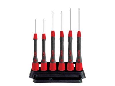 Wiha-Fine-screwdriver-set-PicoFinish®-Hexagonal-ball-end,-6-pcs.-with-holder--(42993)-(WH42993)