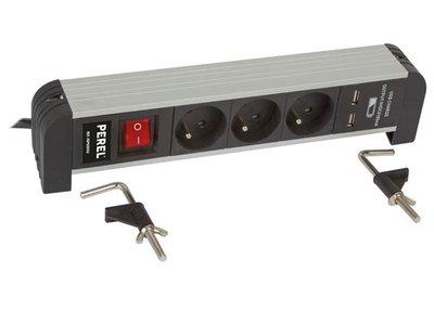 3-VOUDIGE-DESKTOP-CONTACTDOOS-MET-2-USB-POORTEN---2.1-A---PENAARDE-(EBP03DSU)